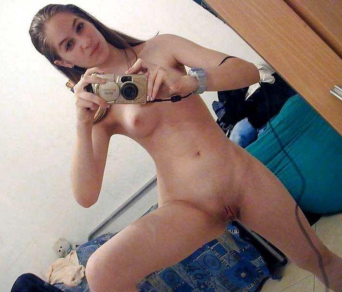 Hot Girl Bent Over Selfie